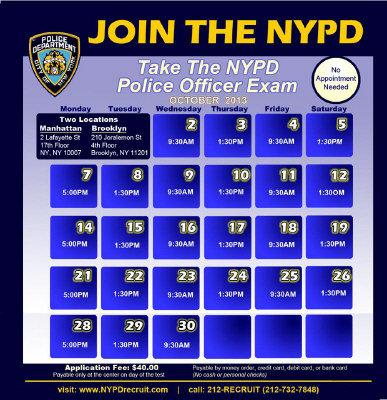 纽约市警局缺人10月公开招聘