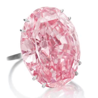 """""""粉紅之星""""鑽石亮相紐約,  估價超6千萬美元. 世界最貴."""