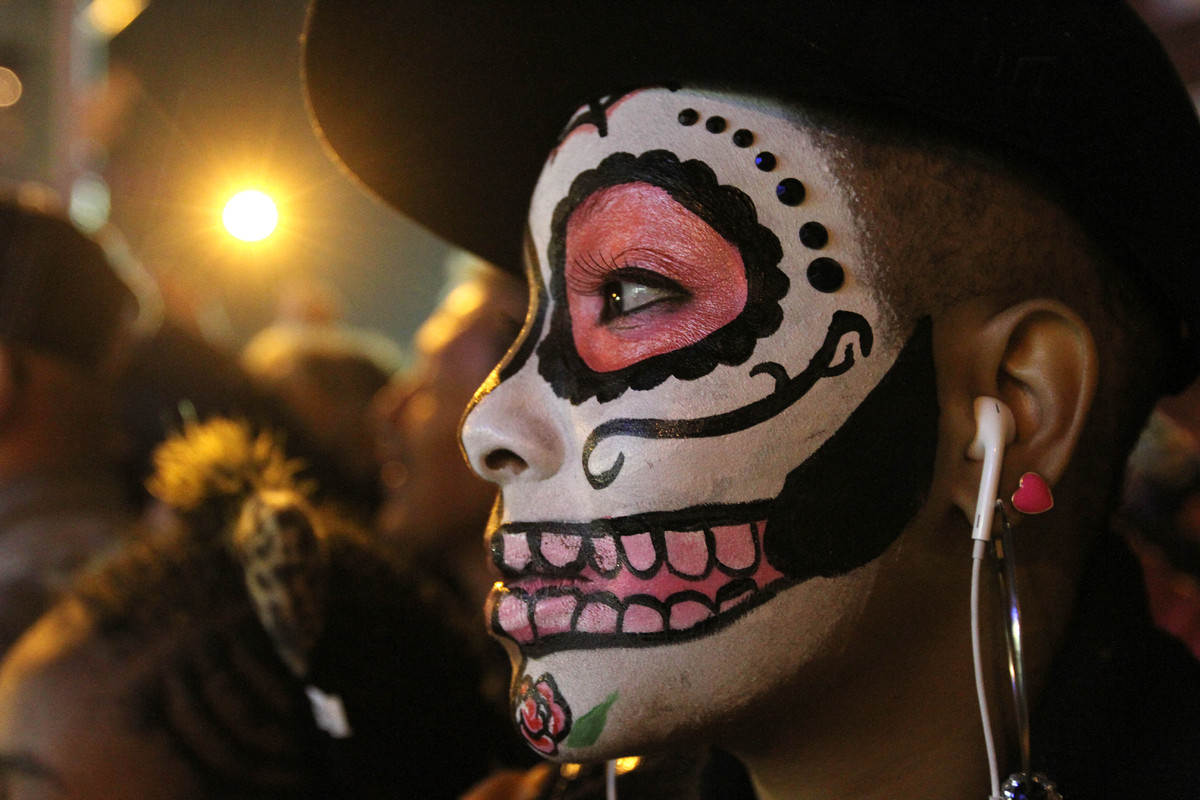 The Village Halloween Parade as it makes its way up New York's Sixth Avenue