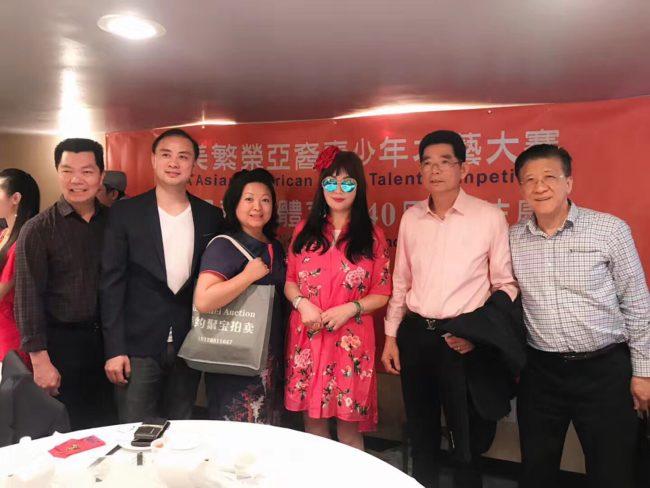 香港影视红星宫雪花出席全美繁荣亚裔青少年才艺大赛新闻发布会
